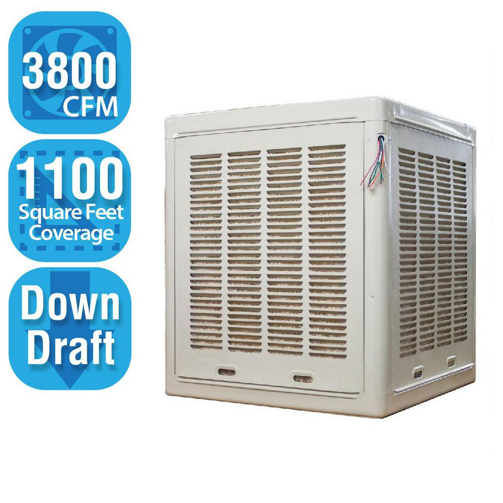 3,800 CFM 2-Speed Down-Draft Aspen Roof/Side Evaporative Cooler for 13 in.