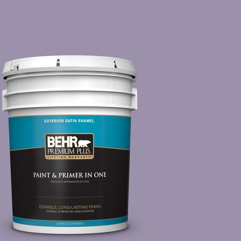 BEHR Premium Plus 5-gal. #650F-4 Delectable Satin Enamel Exterior Paint