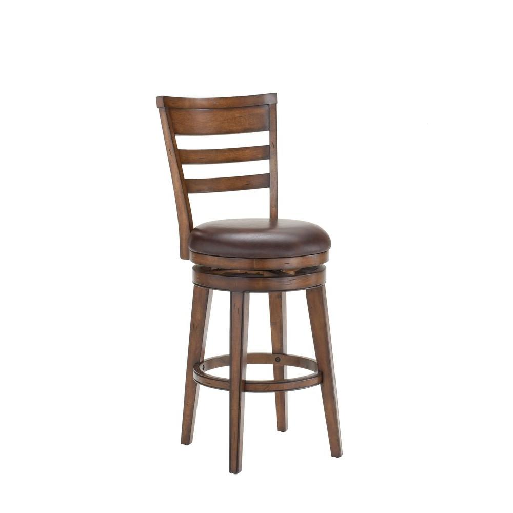 Hillsdale Furniture Villagio 26.5 in. Dark Chestnut Swivel Cushioned Bar Stool