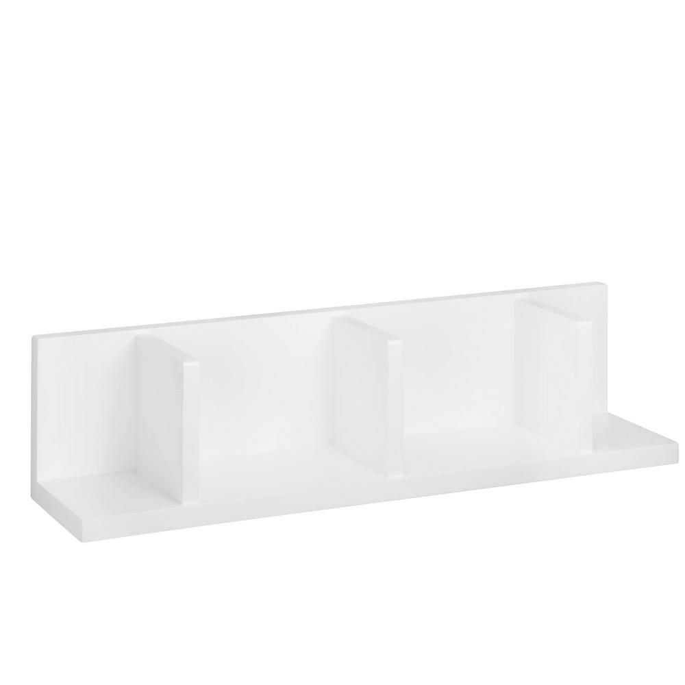 5.9 in. x 5.9 in. Sectioned White Wall Shelf Decorative Shelf