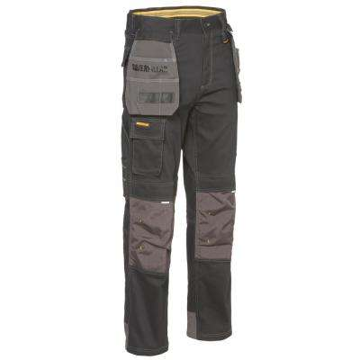 H20 Defender Men's 38 in. W x 36 in. L Black/Graphite Cotton/Polyester Water Resistant Stretch Cargo Work Pant