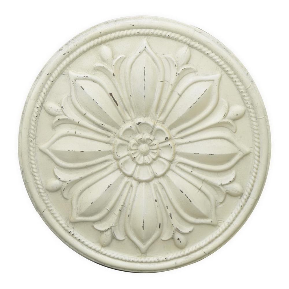 Home Decorators Collection Kennedy White Metal Wall