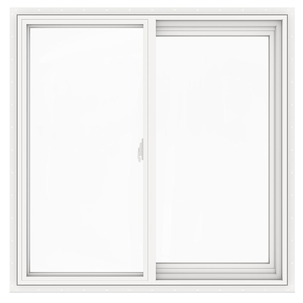 JELD-WEN 35.5 in. x 35.5 in. V-2500 Series Left-Hand Sliding Vinyl Window