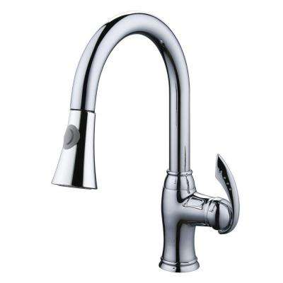 Single-Handle Pull-Out Sprayer Kitchen Faucet in Polished Chrome
