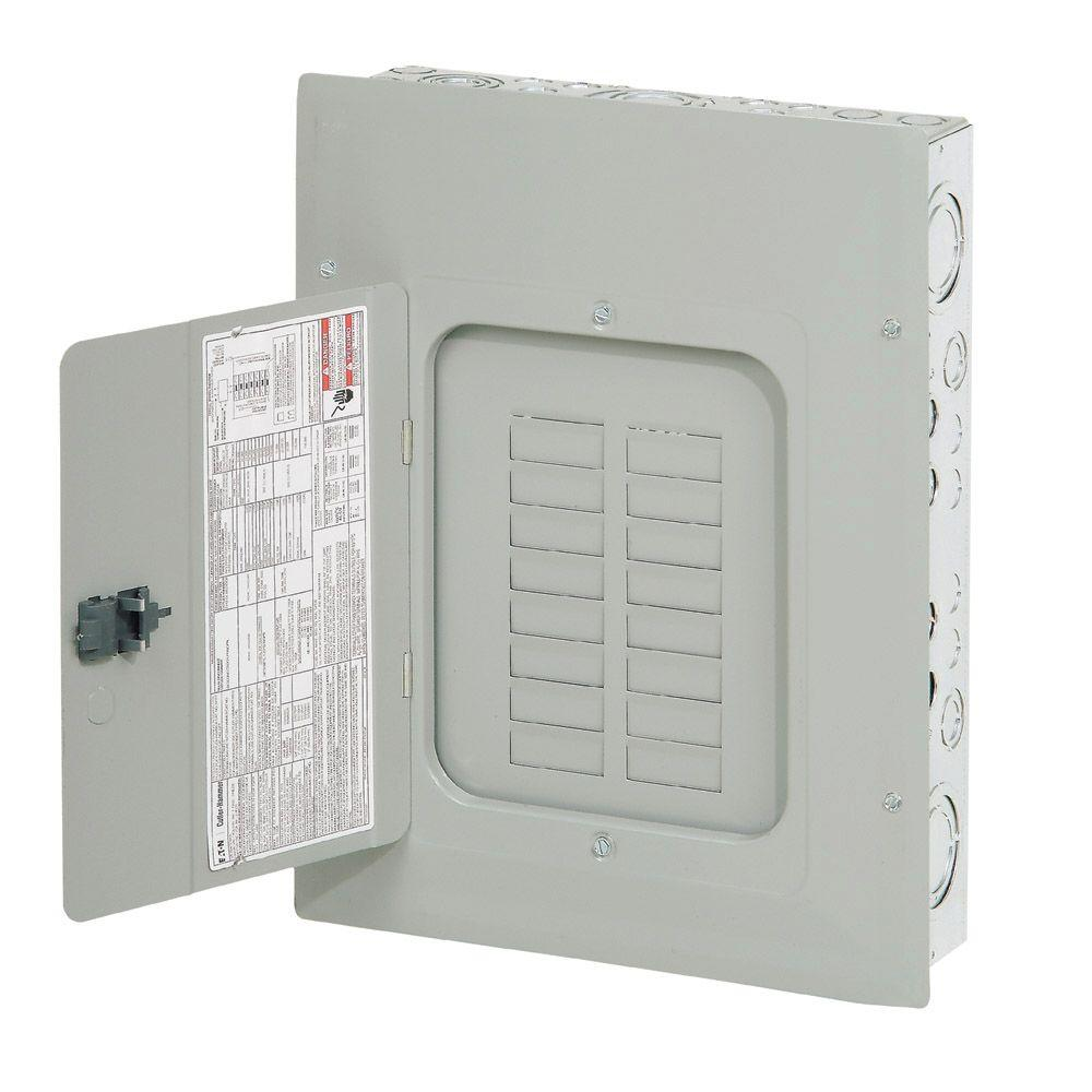 Eaton BR 125 Amp 16 Space 24 Circuit Indoor Main Lug Loadcenter with ...