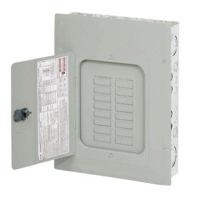 BR 125 Amp 16 Space 24 Circuit Indoor Main Lug Loadcenter with Cover