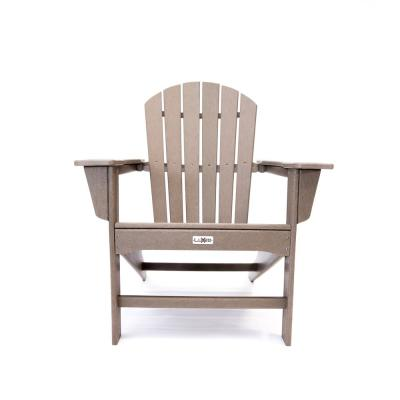 Hampton Weather Wood Outdoor Patio Plastic Adirondack Chair