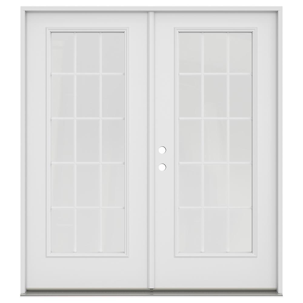 Steel French Patio Door Patio Doors Exterior Doors The Home Depot