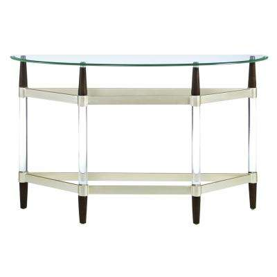Michigan Ave Glass Top and Lucite Sofa/Console Table