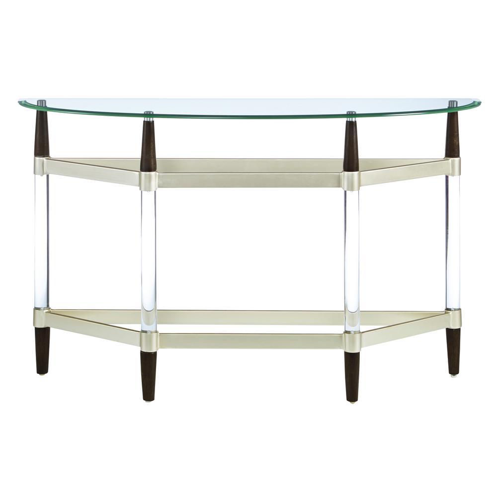Progressive Furniture Michigan Ave Glass Top And Lucite Sofa