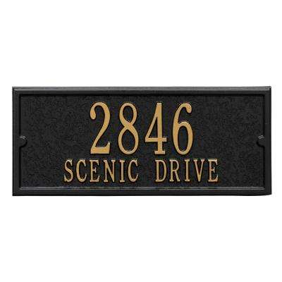 Mailbox Side Panel in Black/Gold