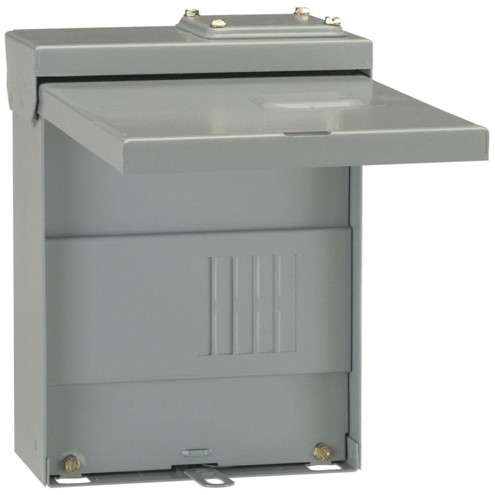 PowerMark Gold 70 Amp 2-Space 4-Circuit Outdoor Single-Phase Main Lug Circuit Breaker Panel