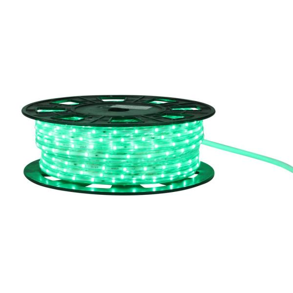 Cc Christmas Decor 100 Ft 600 Light Commercial Green Led Indoor Outdoor Christmas Linear Tape Lighting 31342365 The Home Depot