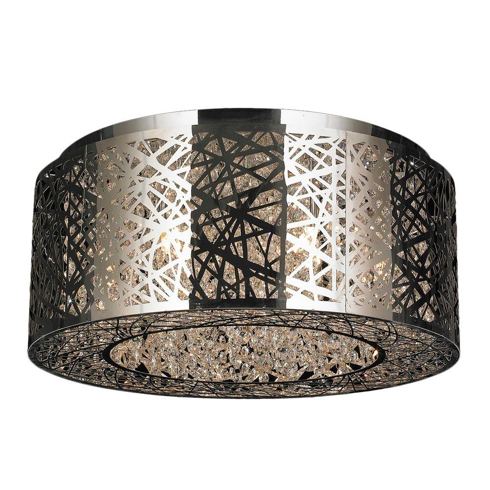 Worldwide lighting aramis collection 9 light chrome crystal worldwide lighting aramis collection 9 light chrome crystal flushmount aloadofball Choice Image
