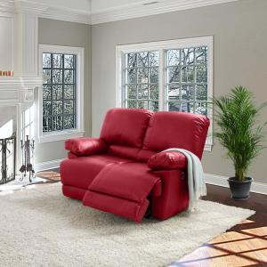 Magnificent Corliving Plush Power Reclining Red Bonded Leather Loveseat Uwap Interior Chair Design Uwaporg
