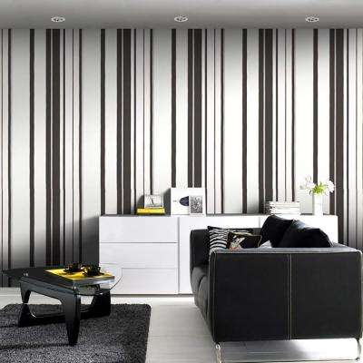 Stripes And Plaids Wallpaper Wallpaper Borders The Home Depot - Wallpaper for walls black and white