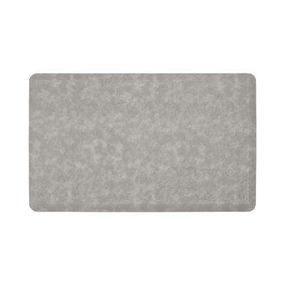 Marni Grey 32 in. x 20 in. Embossed Gelness Mat