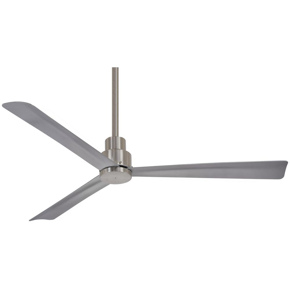 Minka Aire Simple 44 In Indoor Outdoor Brushed Nickel Wet