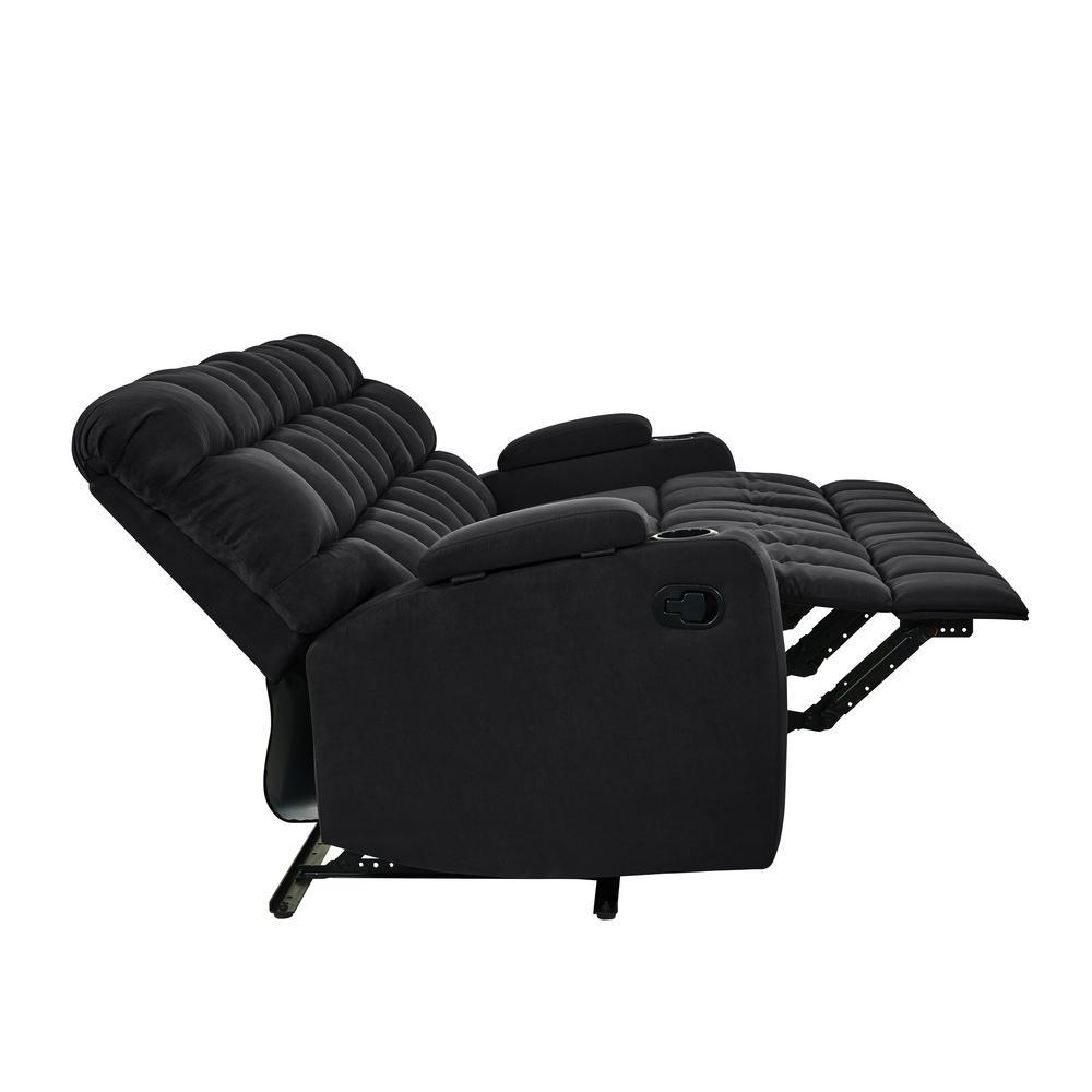 Stupendous Prolounger 3 Seat Black Microfiber Wall Hugger Storage Pdpeps Interior Chair Design Pdpepsorg