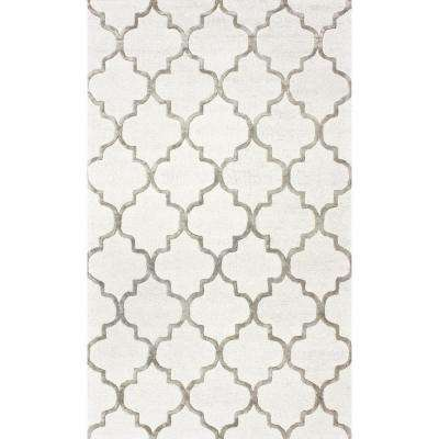 Park Avenue Trellis Nickel 10 ft. x 14 ft. Area Rug