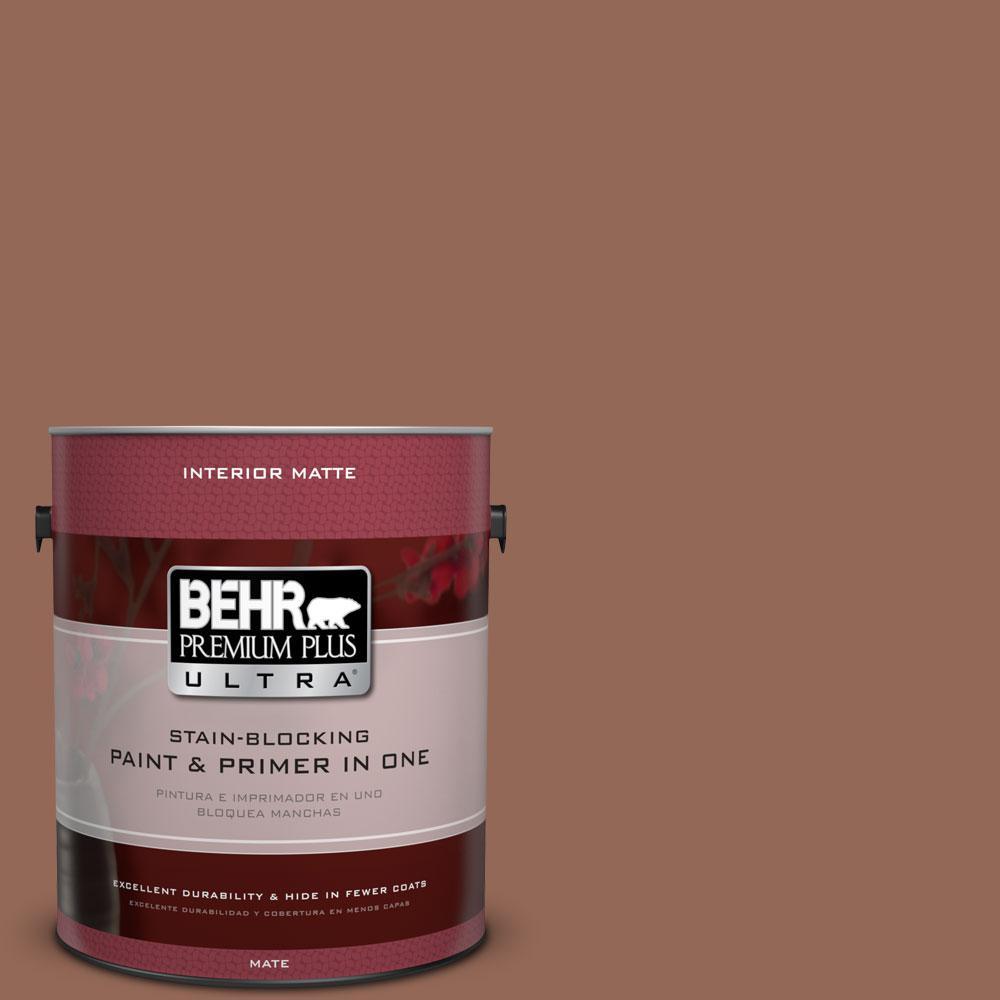 BEHR Premium Plus Ultra 1 gal. #S190-6 Rio Rust Matte Interior Paint