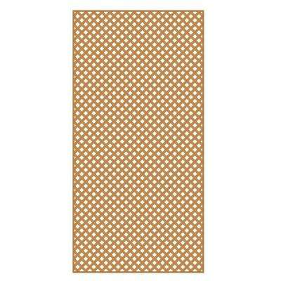 0.2 in. x 48 in. x 8 ft. Sierra Cedar Vinyl Privacy Diamond Lattice
