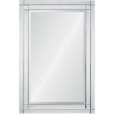 36 in. H x 24 in. W StyleWell Rectangle Framed Accent Mirror with Beveled Glass