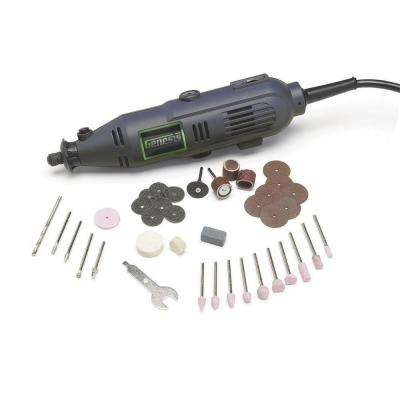1 Amp Variable Speed Rotary Tool with Spindle Lock, 40 Universal Accessories and Storage Case