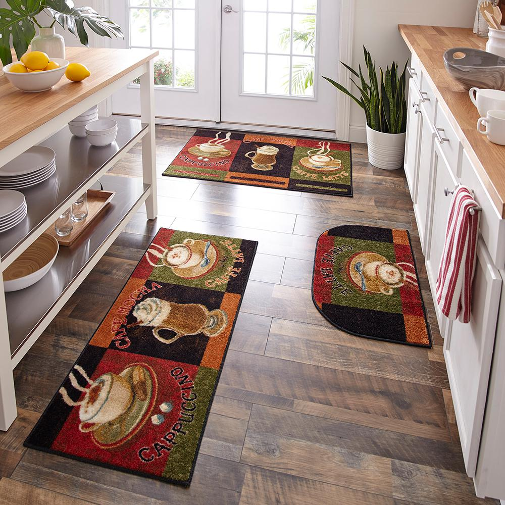 Mohawk Home Caffe Latte Primary 20 in. x 45 in. Accent Kitchen Rug