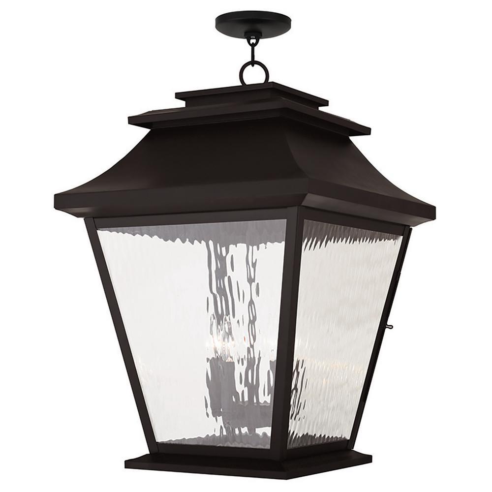 Hathaway Bronze 5-Light Outdoor Hanging Lantern