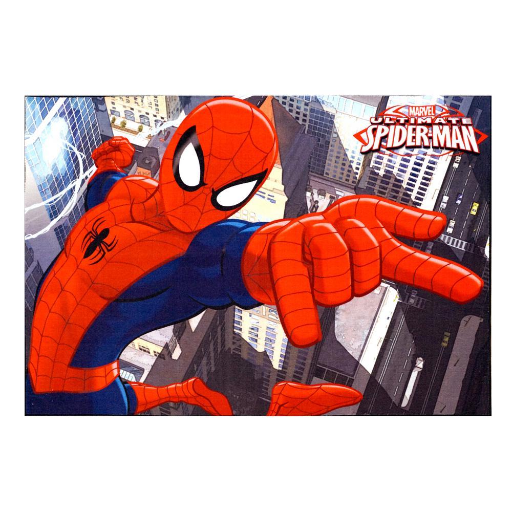 Spiderman Red 5 ft. x 7 ft. Juvenile Indoor Area Rug