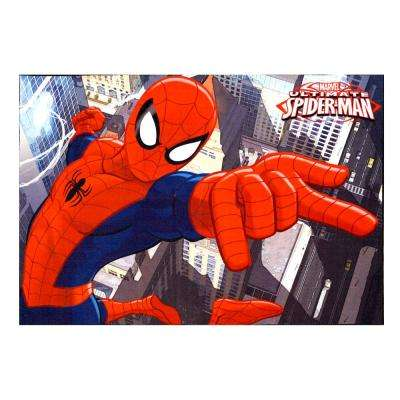 Spiderman Red 5 ft. x 7 ft. Juvenile Indoor Area Rug