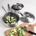 American Kitchen Single and Loving It 5-Piece Stainless Steel Cookware Set