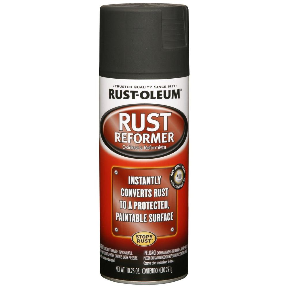rust oleum automotive oz rust reformer spray paint 248658 the home depot. Black Bedroom Furniture Sets. Home Design Ideas
