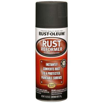 10.25 oz. Rust Reformer Flat Black Spray Paint (6-Pack)