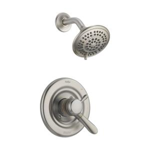 Lahara 1-Handle Wall Mount Shower Only Faucet Trim Kit in Stainless (Valve Not Included)