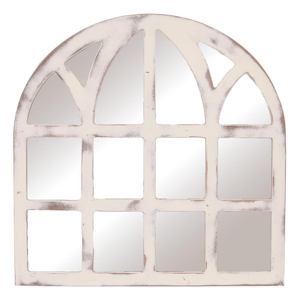 Medium Irregular White Mirror (28 in. H x 28 in. W)