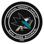 San Jose Sharks Black 27 in. Round Hockey Puck Mat