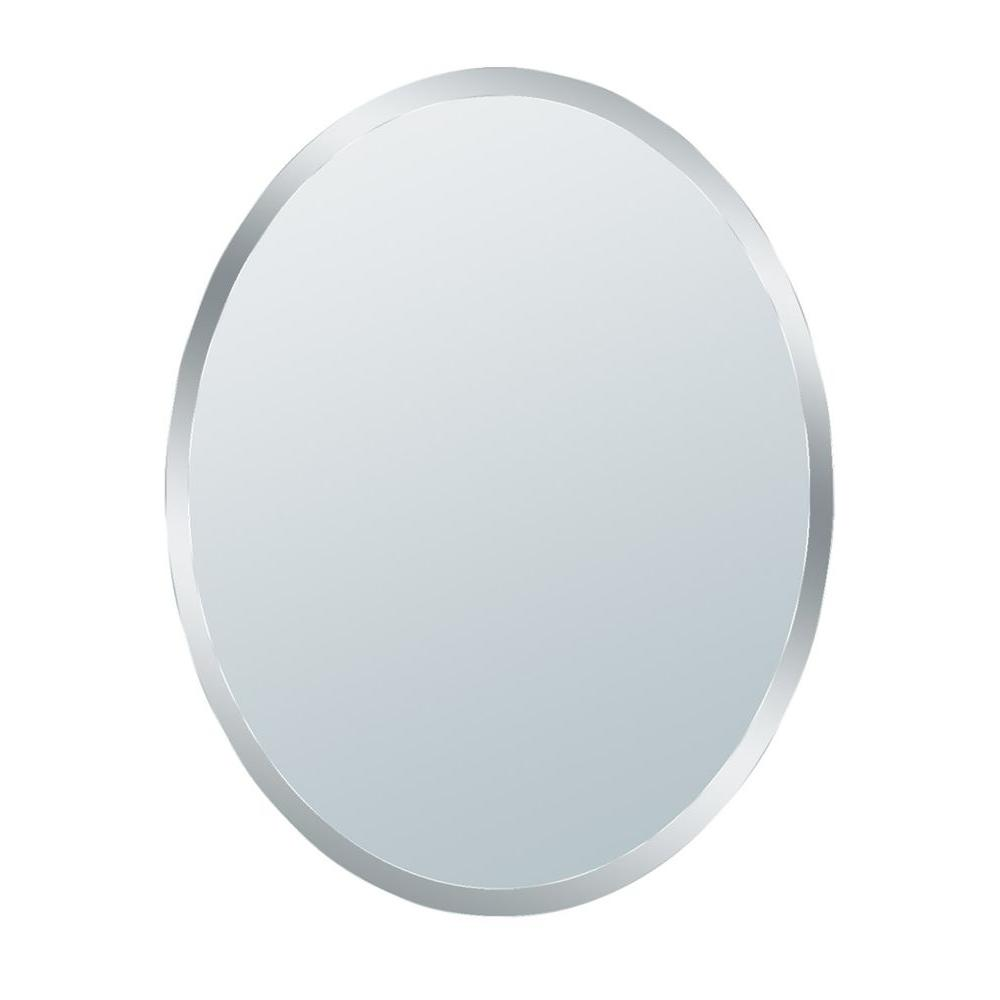 Glacier Bay 31 in. x 21 in. Small Beveled Oval Mirror