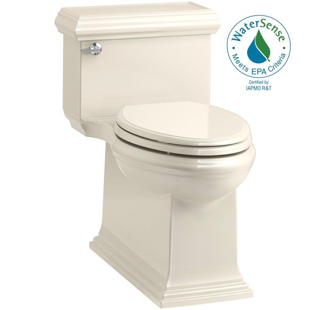 Memoirs Classic 1-Piece 1.28 GPF Single Flush Elongated Toilet in Almond,