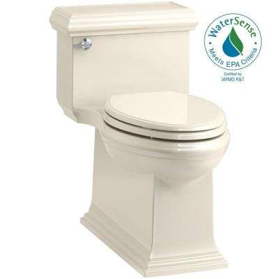 Memoirs Classic 1-Piece 1.28 GPF Single Flush Elongated Toilet in Almond, Seat Included