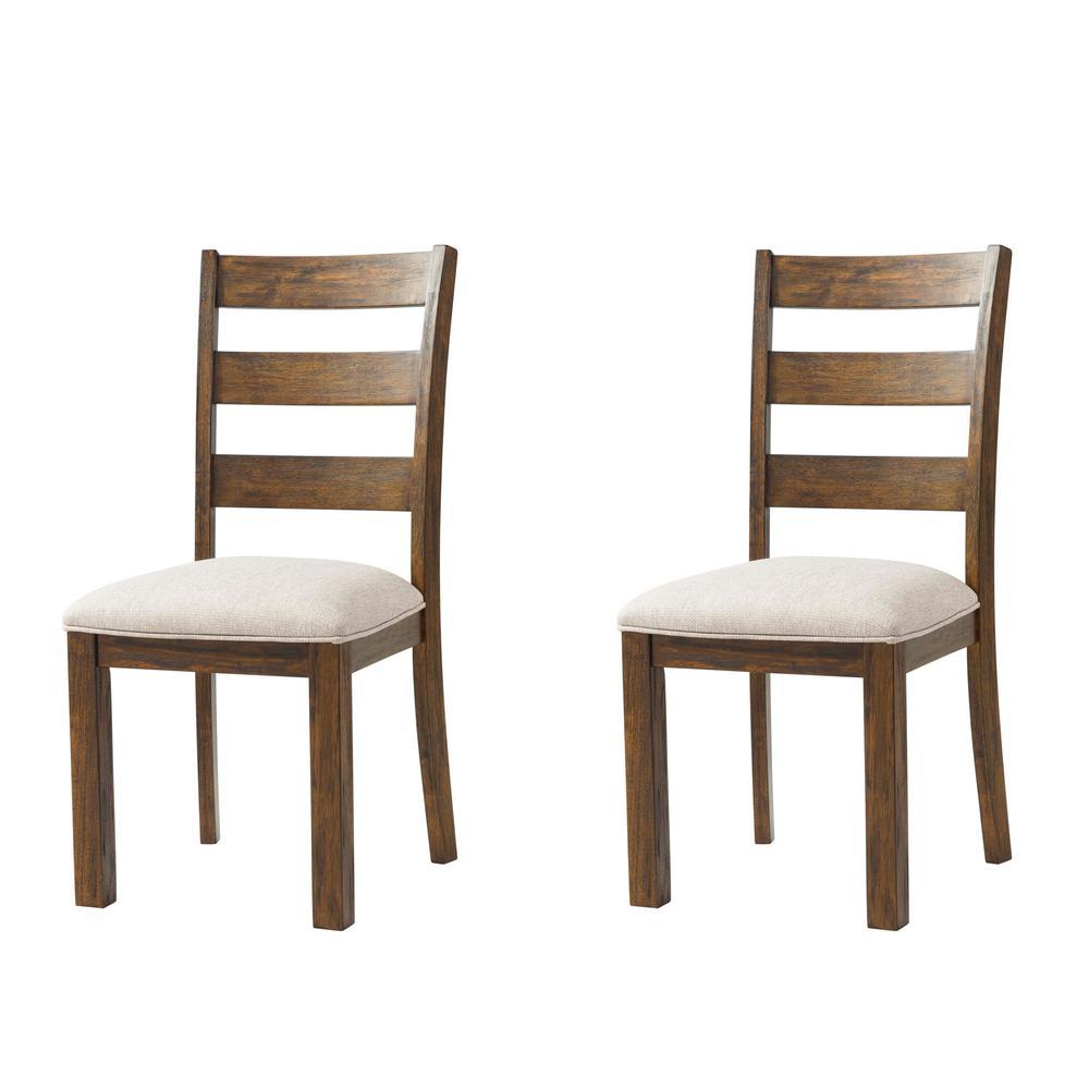 Mason walnut dining side chair set