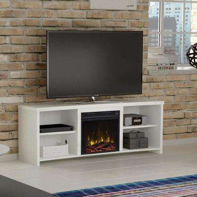 Shelter Cove 65 in. Media Console Electric Fireplace in White
