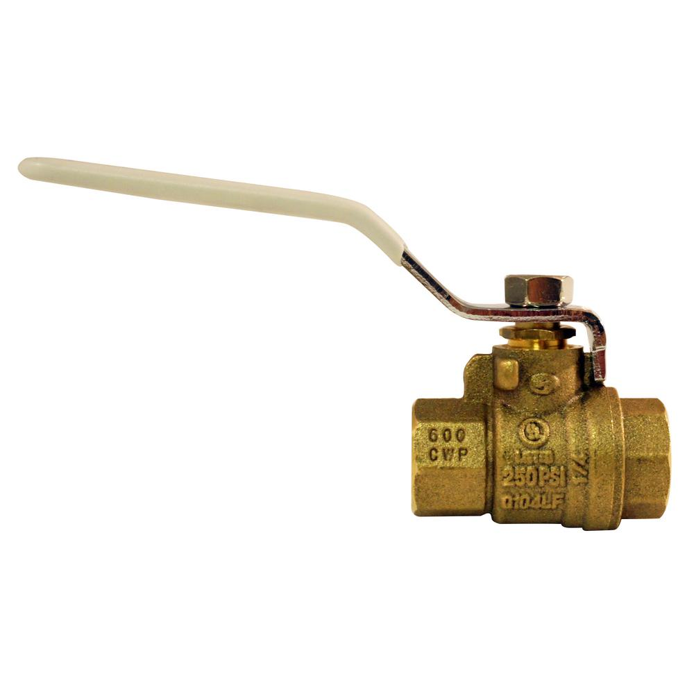 "Brass 3//8/"" Female to Female Shutoff Full Port Valve for Gas Air Use Blue"