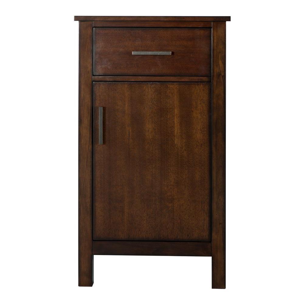 Castlethorpe 19 in. W x 34 in. H Bathroom Linen Storage Floor Cabinet in Dark Walnut