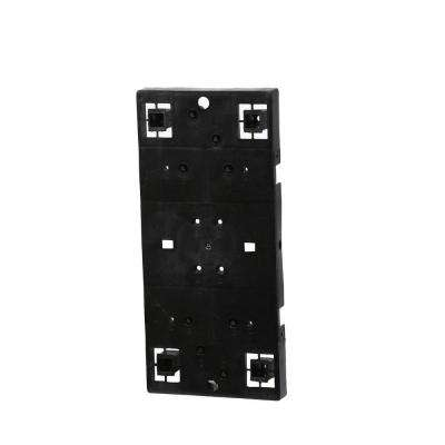 Plastic Universal Mailbox Mounting Board in Black