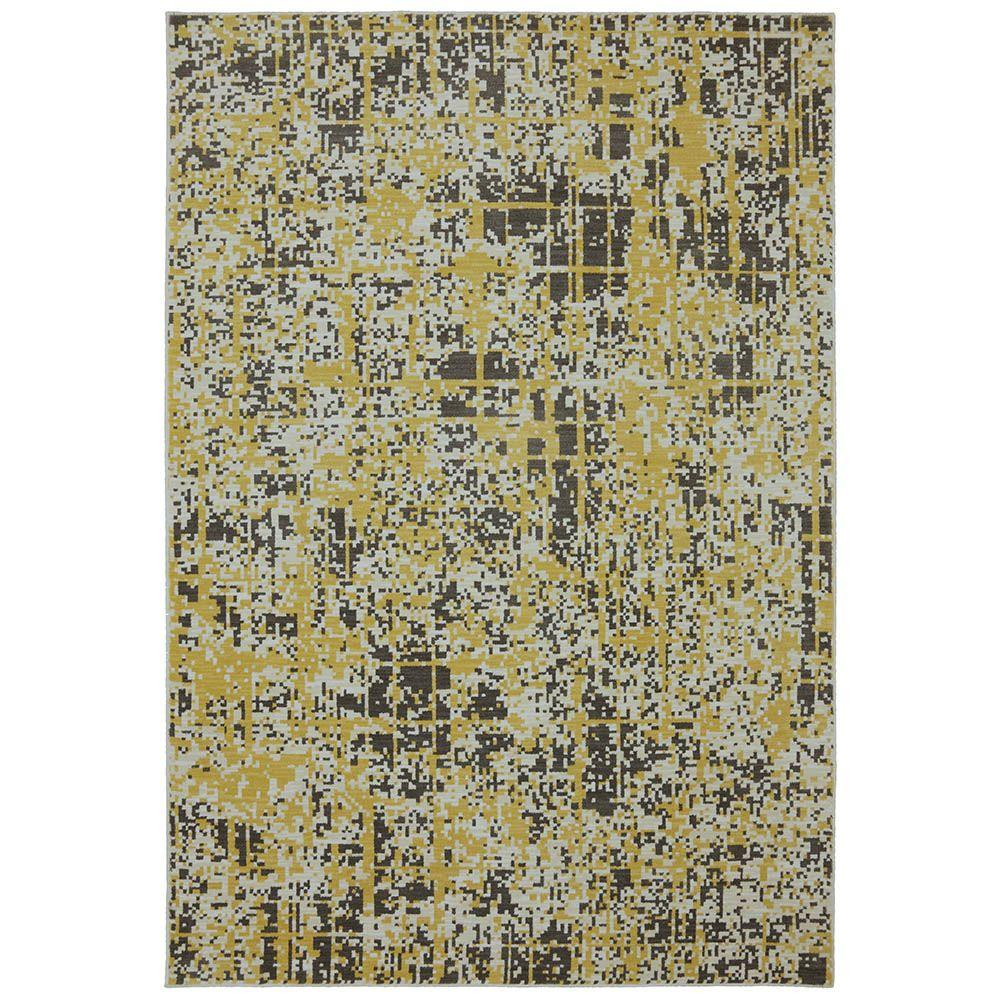 Karastan Pixelated Creme Brulee 5 ft. 6 in. x 8 ft. 3 in. Area Rug