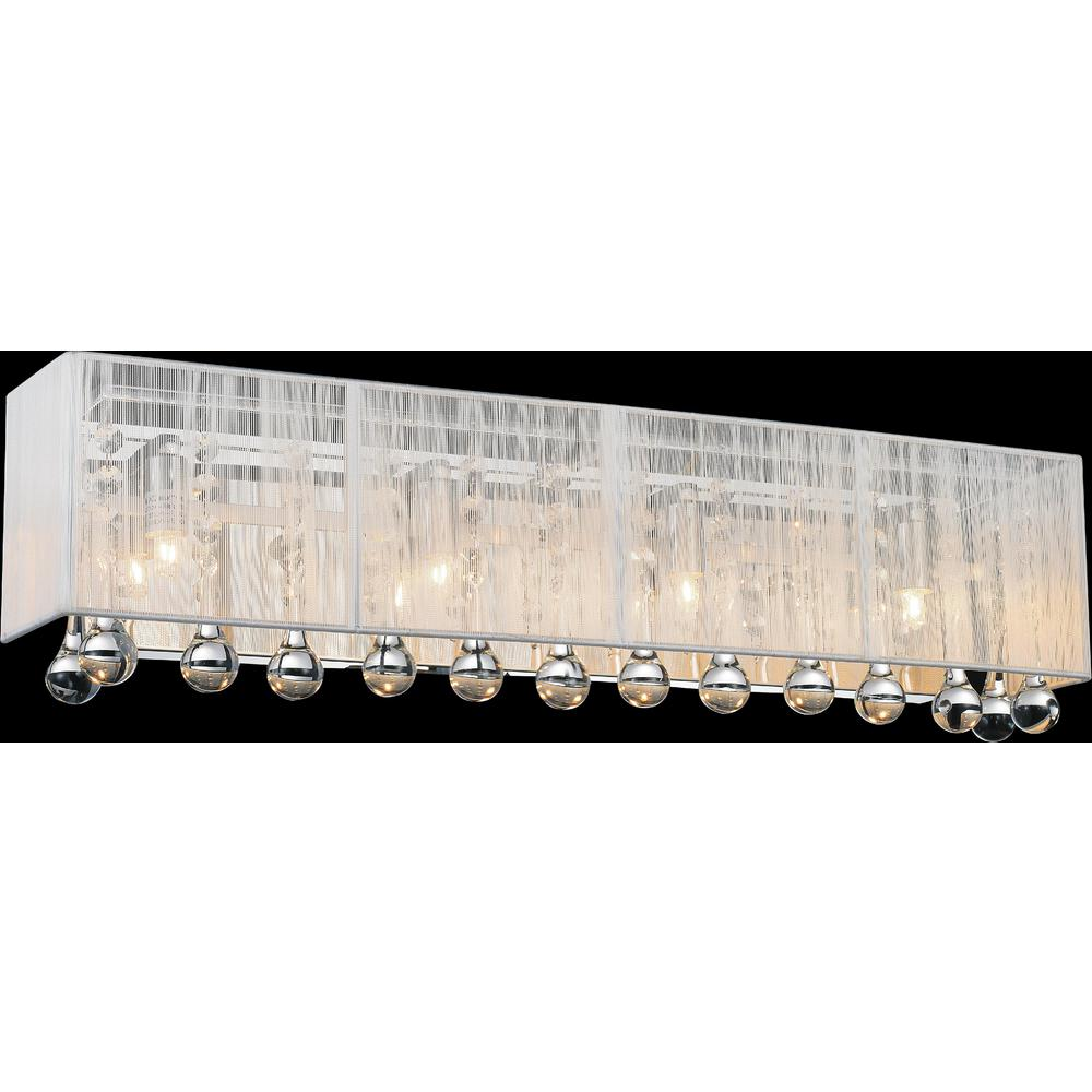 CWI Lighting Water Drop 4-Light Chrome Sconce