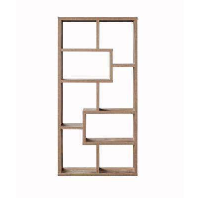 Kimya Hazelnut 8-Shelf Bookcase