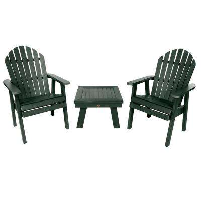 Hamilton Charleston Green 3-Piece Recycled Plastic Outdoor Conversation Set